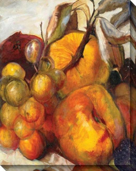 """a Bountiful Harvest Canvas Wall Arf - 36""""hx46""""w, Orange"""