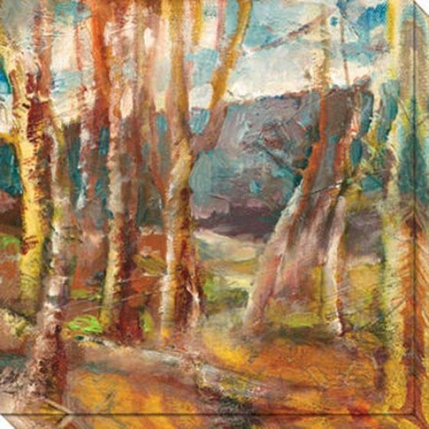 A Avenue In The Woodx I Canvas Wall Art - I, Gold