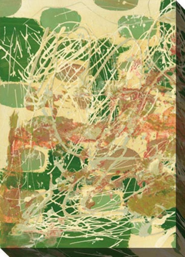 A Way Through I Canvas Wall Art - I, Green
