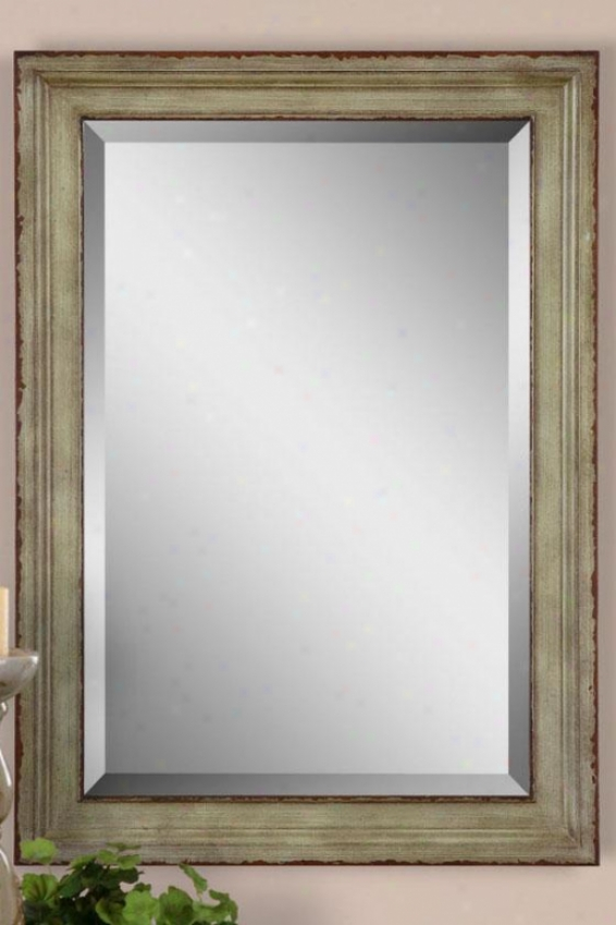 """abbey Wall Mirror - 36""""hx36""""w, Green"""