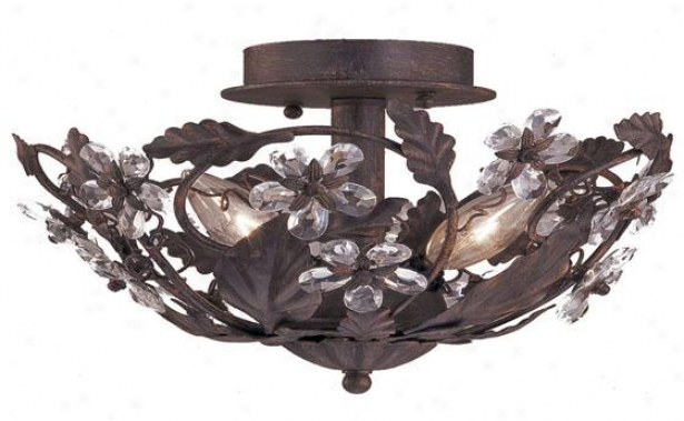 """abbie 12""""w Semi-flush Mount - 3-light, Tna"""