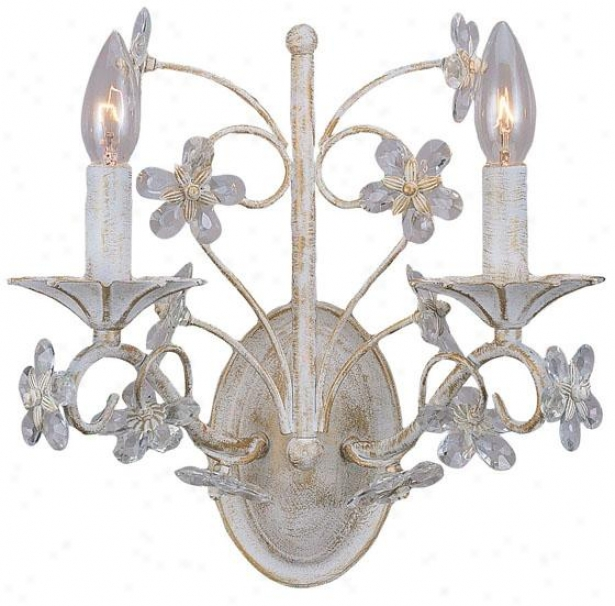 """abbie 2-light Wall Sconce - 12h X 12w X 7""""d, White"""