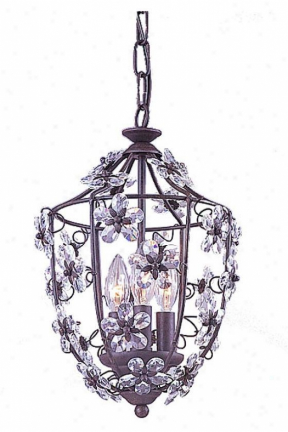 Abbie Hanging Lantern - 3-light, Tan