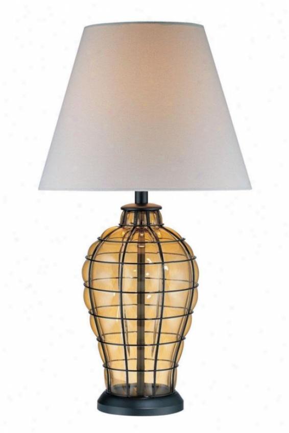 """abeilles Amber Table Lamp - 28.75""""h X 16""""w, Copper"""
