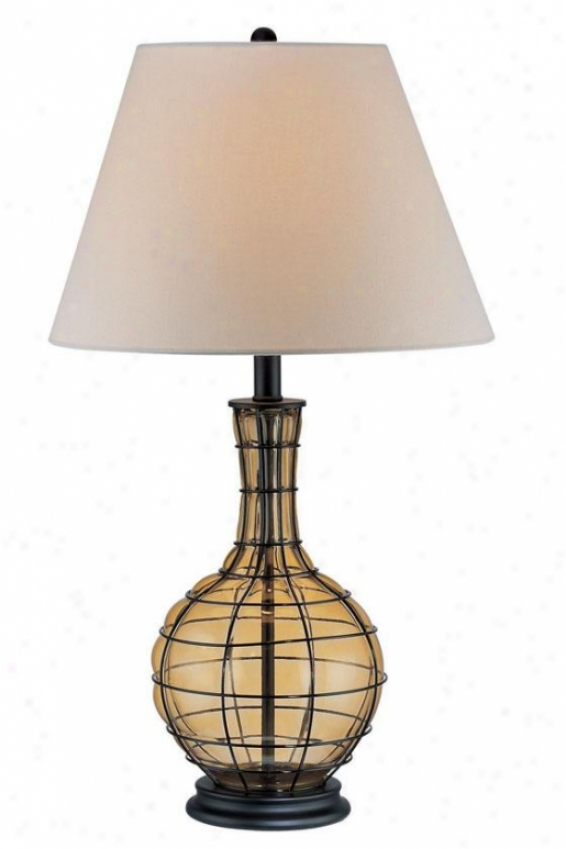 """abeillees Ii Amber Table Lamp - 29""""h X 16""""w, Copper"""