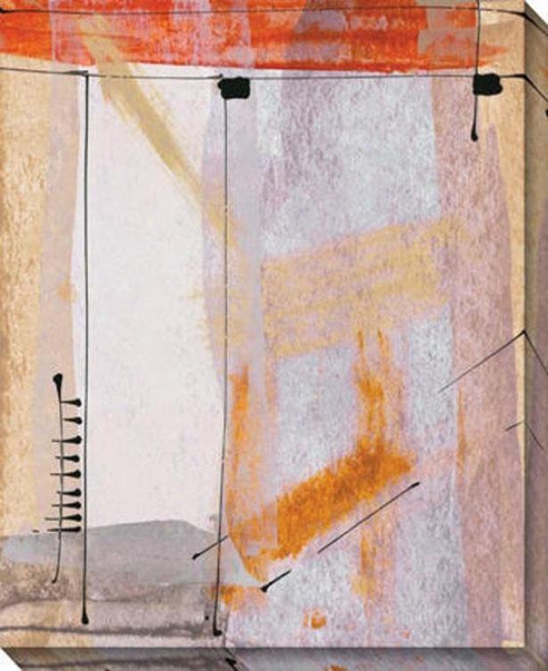 """abstract Plane Canvas Wall Art - 36""""hx44""""w, Ivory"""