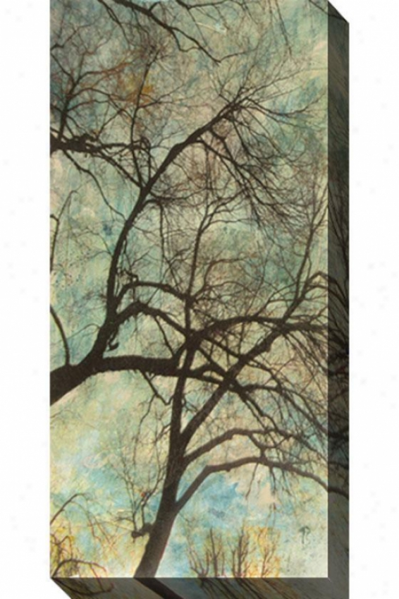 Abstract Trees Vi Canvas Wall Art - Vi, Blue
