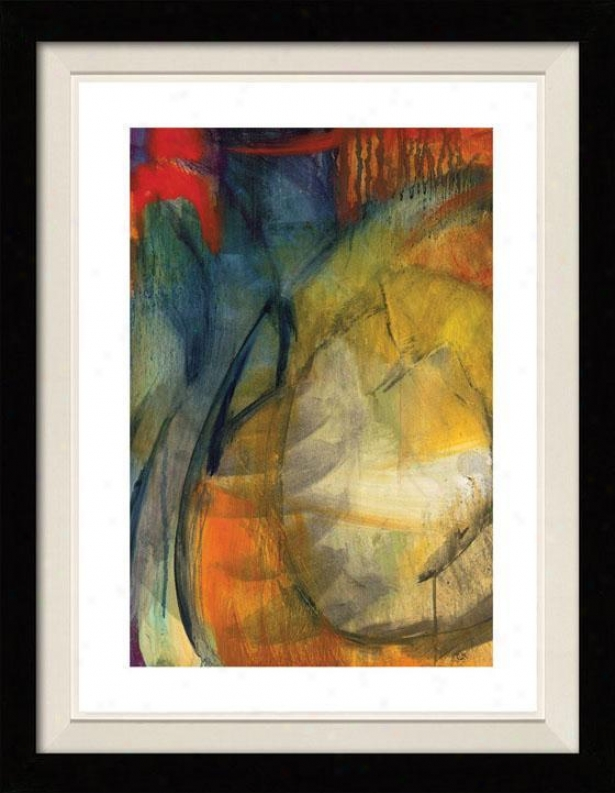 Abstracted Nature Starbright I Framed Wall Art - I, Floated Black