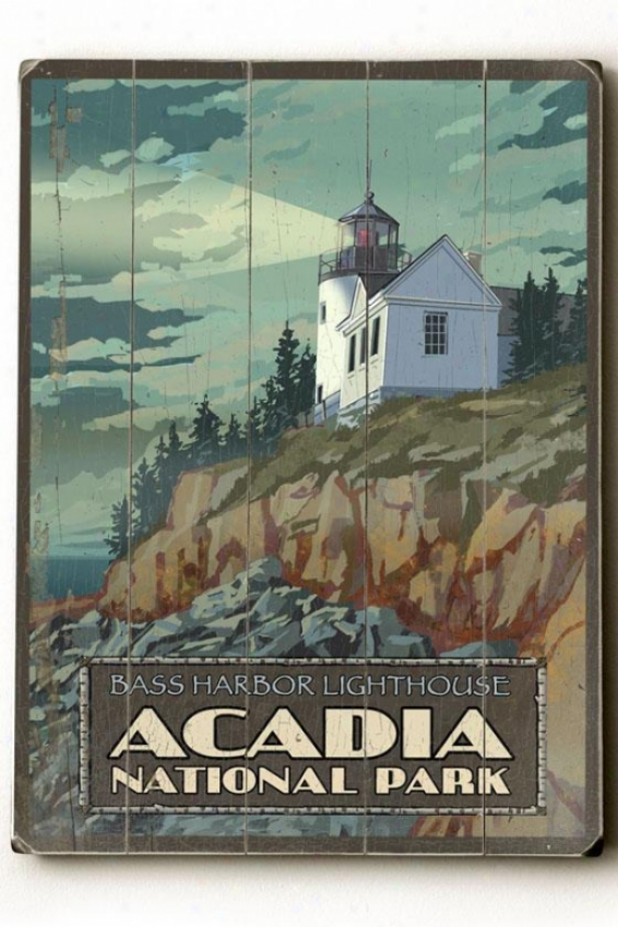"""acaria National Park Wokden Sign - 20""""h X 14""""w, Multi"""