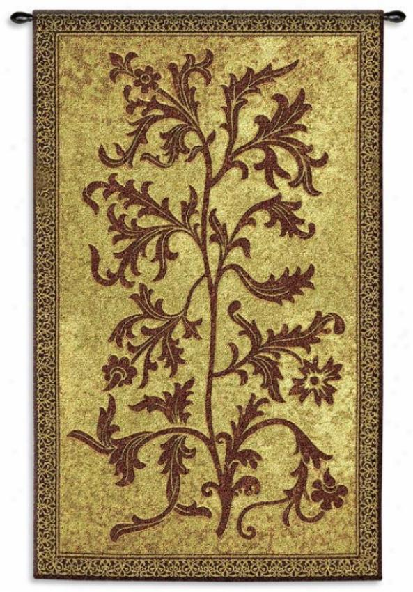 """acanthus Vine Tapestry - 75""""hx44""""w, Brown"""
