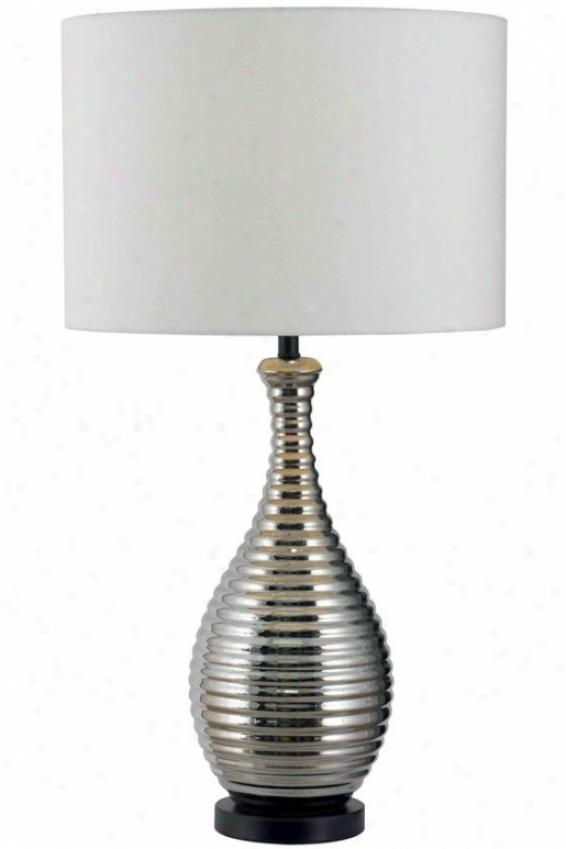 """""""achilles Table Lamp - 32""""""""hx16""""""""d, Silver Chrome"""""""