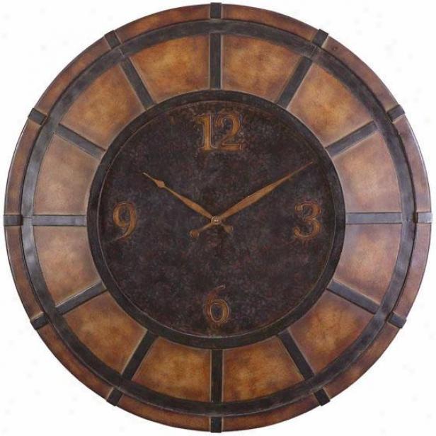 """ackerman Wall Clock - 30""""d, Brown"""