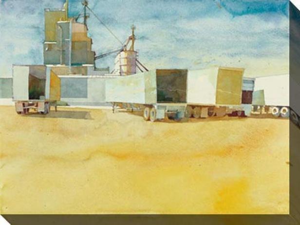 """acoplados Canvas Wall Art - 48""""hx3""""w, Gold"""