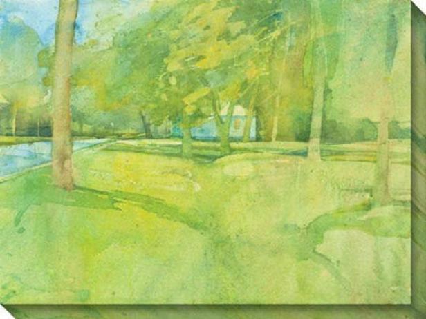 """across The Way Canvas Wall Art - 48""""hx36""""w, Green"""