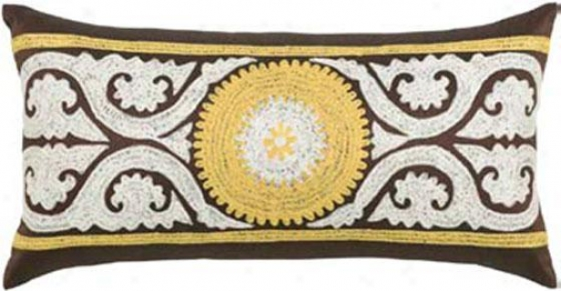 """adelle Pillow - 11""""x21"""", Brown"""