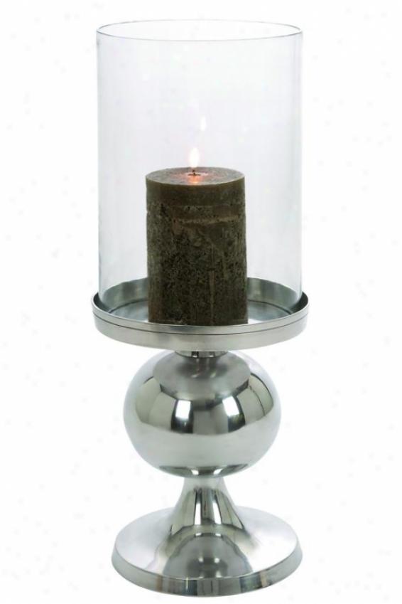 """adisa Candleholder - 22""""hx8""""diameter, Silver"""