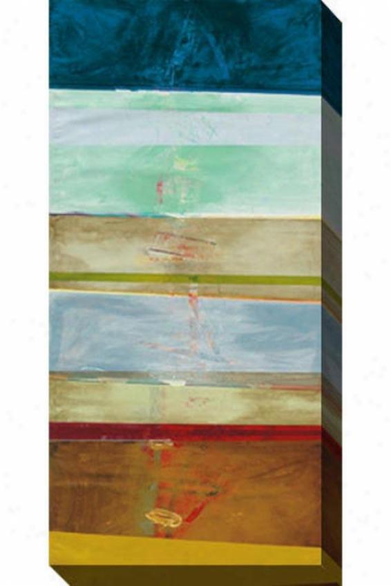 Advancement I Canvas Wall Art - I, Blue