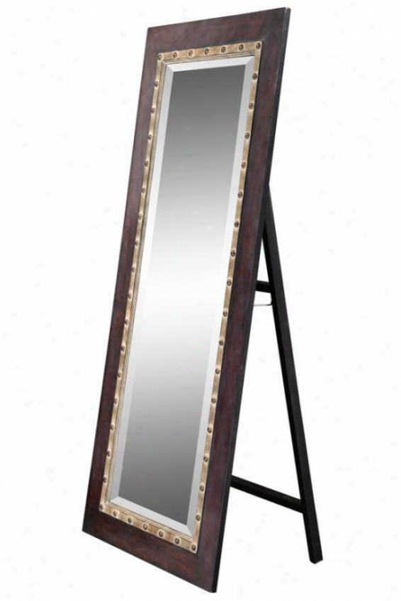 """""""aegean Cheval Mirror - 68""""""""hx30""""""""w, Maroon"""""""