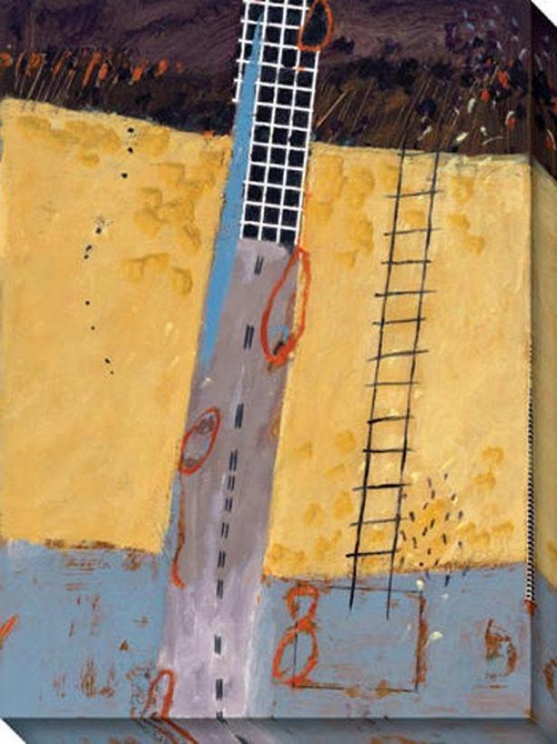 Afar Ii Canvas Wall Art - Ii, Yellow