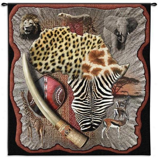 """""""africa Tapestry - 51""""""""hx53""""""""w, Multi"""""""