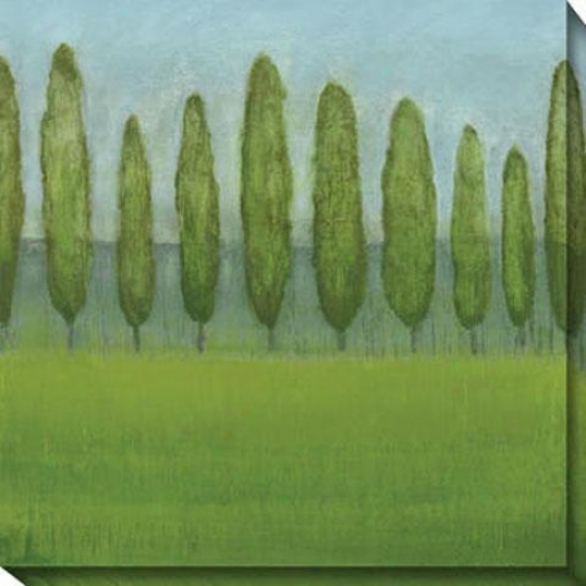 Afternoon De1ight I Canvas Wall Art - I, Green