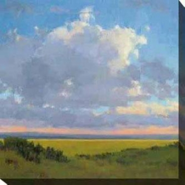 Afternoon Sky I Canvas Wall Art - I, Green