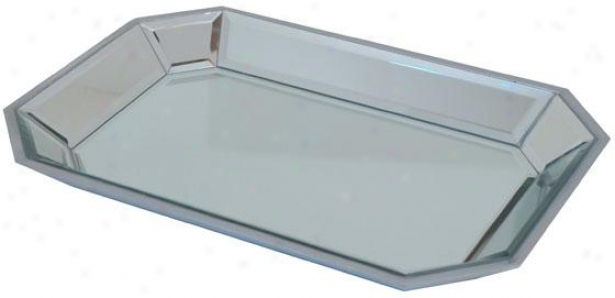"""aidan Mirrored Tray - 17""""wx12""""d, Silver"""