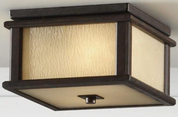 """aiden Outdoor Flush Mount - 5.5""""h X9""""w, Woodland Bronze"""