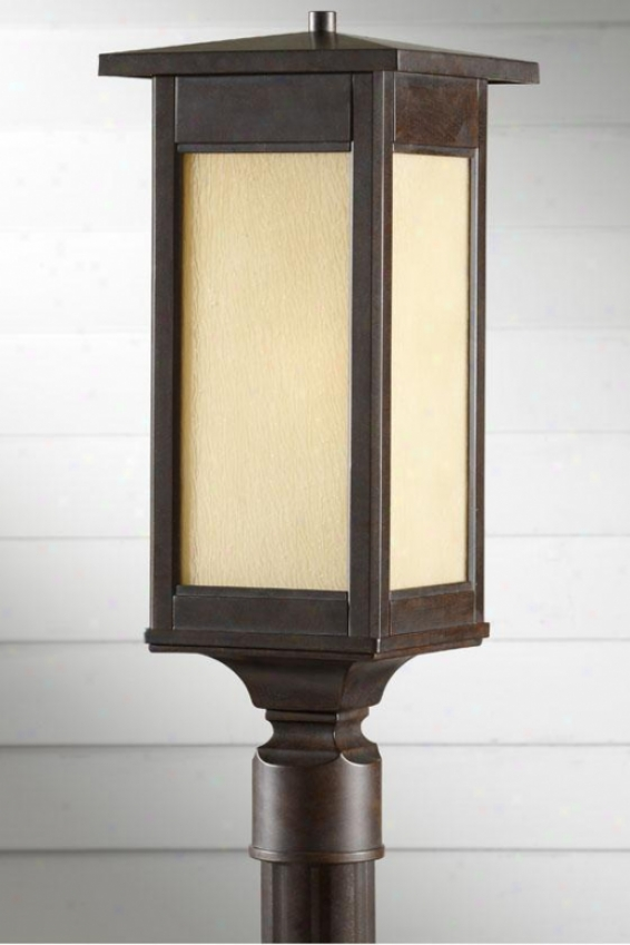 """aiden Outdoor Lamp Post - 22""""h X 7.5""""w, Woodland Bronze"""