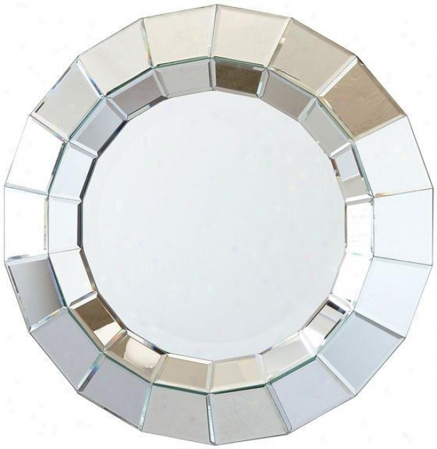 """ainsworth Round Beveled Wall Mirror - 28.5""""d, Silver"""