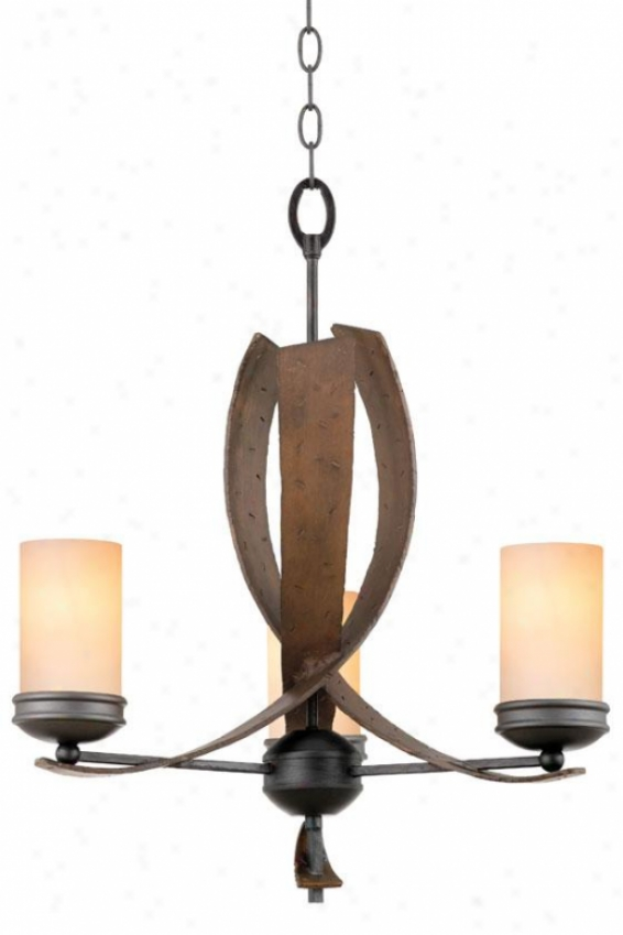 Aizen Chandelier - Three Light, Tan Opal