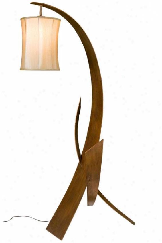 """aizen Floor Lamp - 68.5""""h X 27""""w, Ham Ore /asp Brz"""
