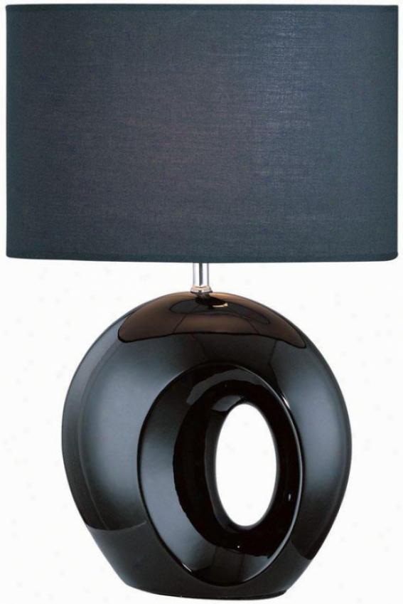 """akio Table Lamp - 11.75""""x23.25"""", Black"""