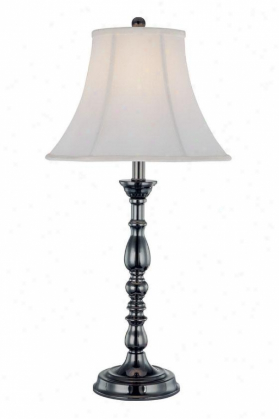"""albela Table Lamp - 28.5""""h X 14""""w, Gun Metal"""