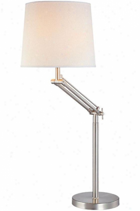 """aleda Swing-arm Lamp - 28""""hx21""""d, Sillver"""