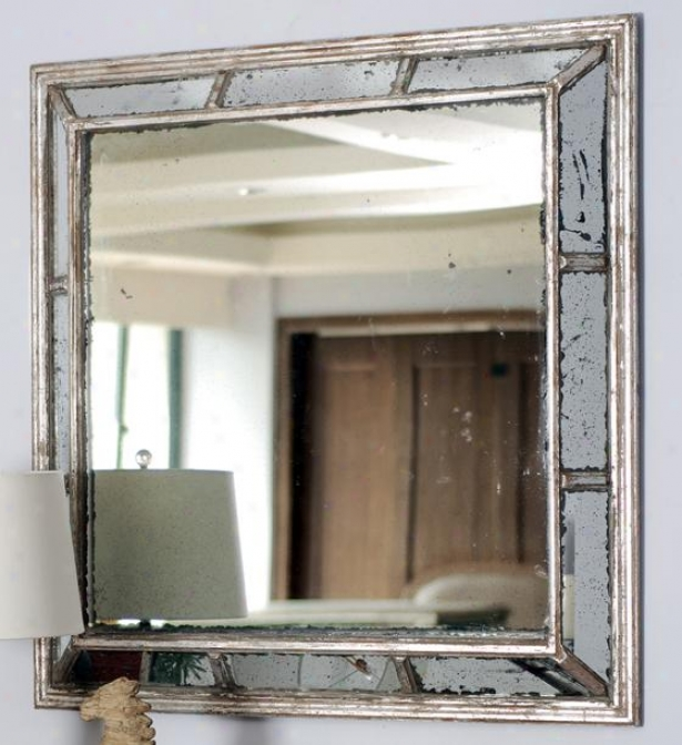 """alexa Mirror - 39""""wx39""""h, Antiqued Mirror"""