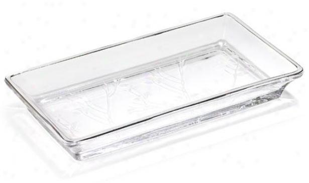 Alhambra Bath Tray - Tray, Glass W/platinm
