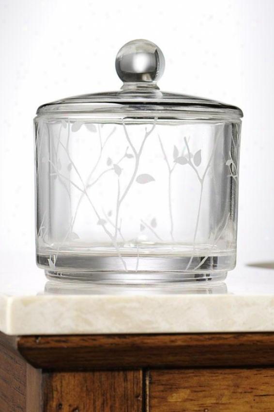 Alhambra Cotton Jar - Cotton Jar, Glass W/platinm