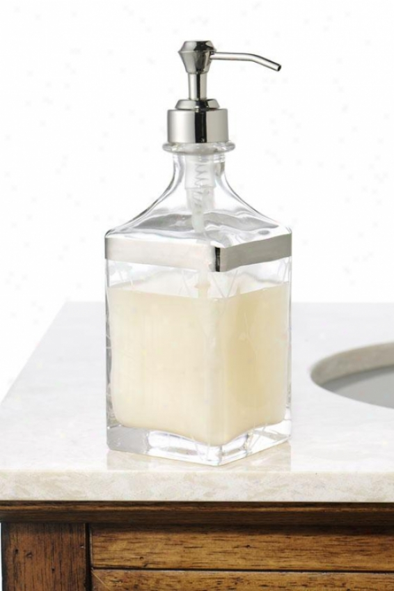 Alhambra Lotion Dispenser - Lotion Dispnser, Glass W/platinm