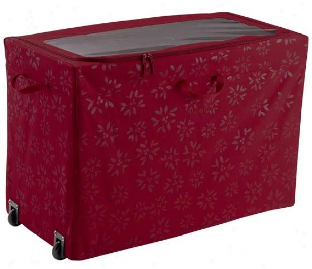 """all-purpose Rolling Storage - 24""""hx18""""w, Crimson Red"""
