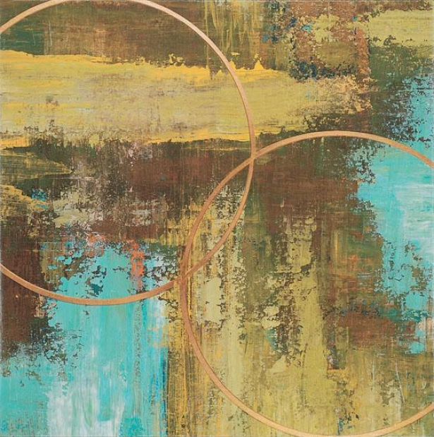 """""""aaller Chartreuse Wall Art - 32""""""""squarex2""""""""d, Turquoise"""""""