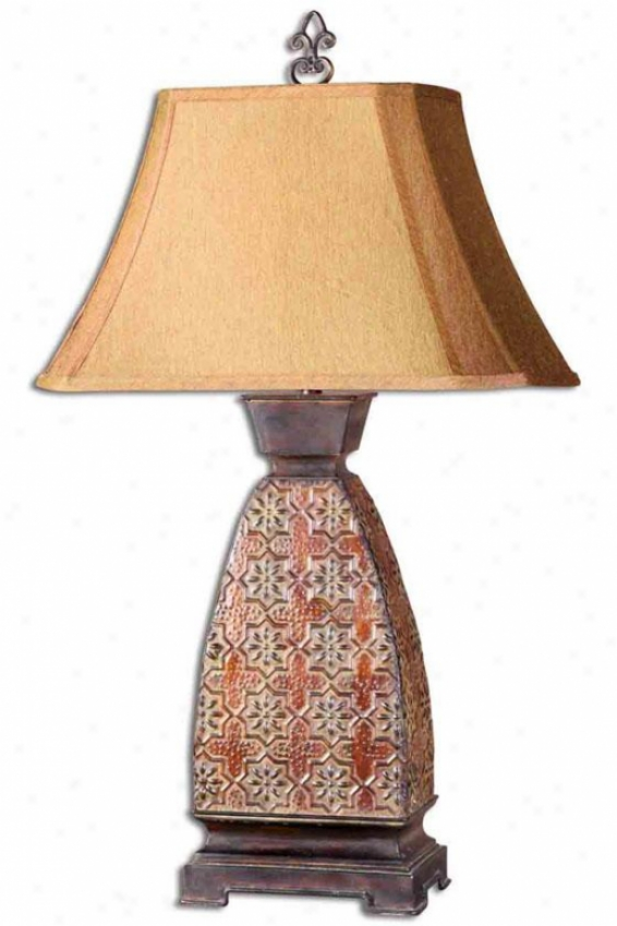 """alvarez Table Lamp - 36""""h X 21""""w, Dark Chestnut"""