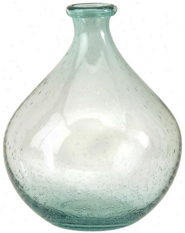"""""""amadour Bubble Glass Bottle - 10.25""""""""hx8""""""""d, Blue"""""""