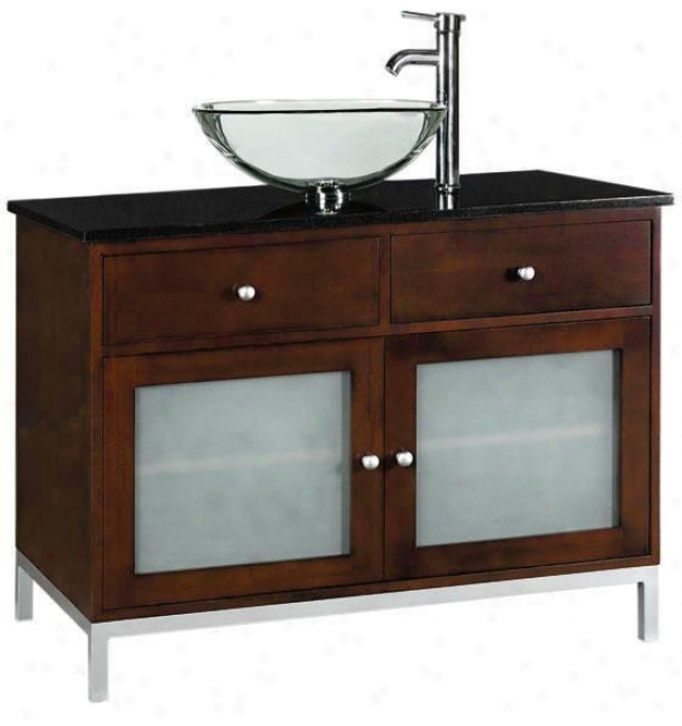 """amanda 36""""w Bathroom Vanity - Single 36""""w, Brown"""