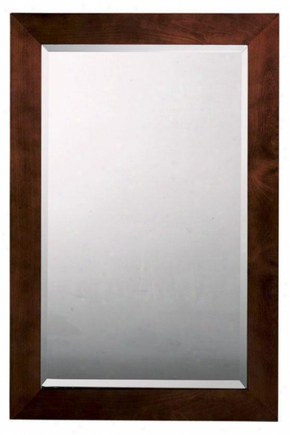 """amanda Mirror - 41""""hx27""""w, Brown"""