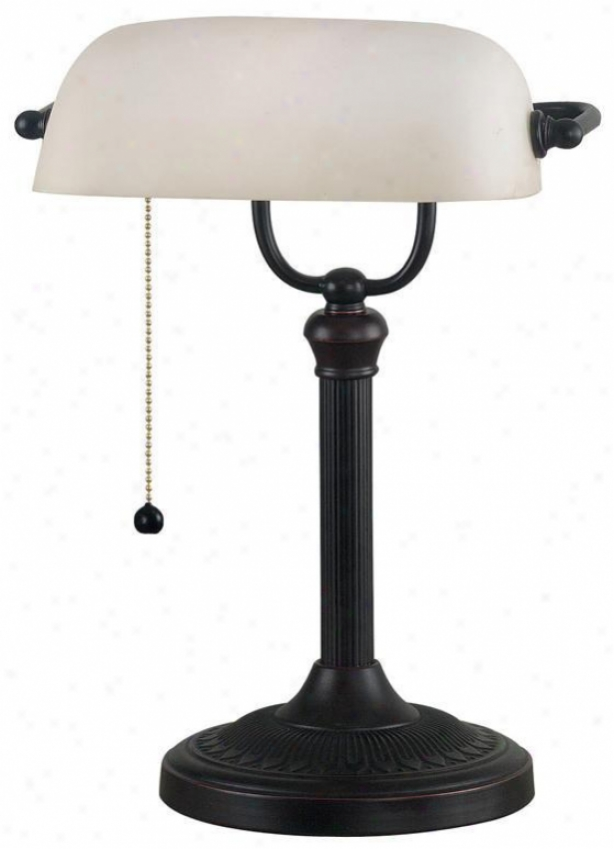 """""""amherst Banker's Lamp - 15""""""""hx11""""""""w, Oil Rubbed Bronze"""""""