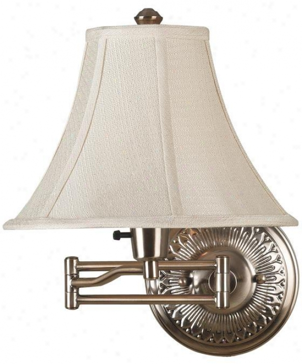 """amherst Wall Swing Arm Lamp - 16""""hx12""""w, Bronze"""