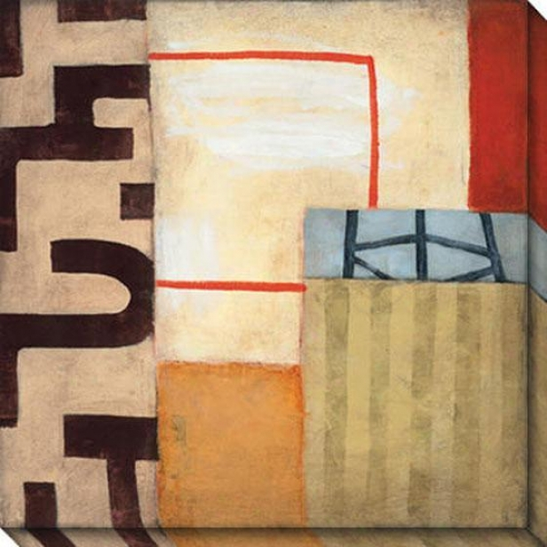 Of great age Modern I Canvas Wall Art - I, Ivory