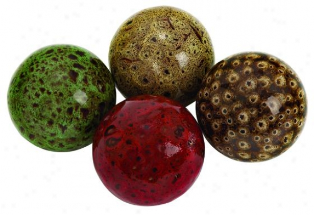 """ander Decorative Ball - Set Of 4 - 4"""" Diameter, Multi"""