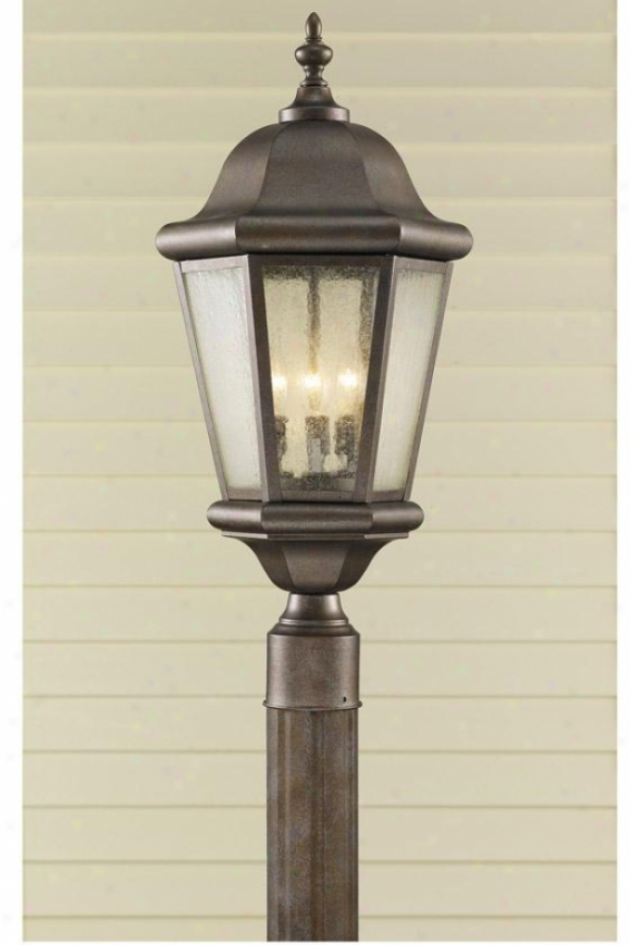 Anderson Outdoor Light Post - Three Light, Bronze